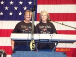 Carol Hutto and Christine Dotson of The Doston Family getting ready to sing at Tannehill Opry on January 29, 2011