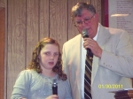 Grand daughter Emma singing, 'He's Still Workin' on Me' with Poppa Gary!